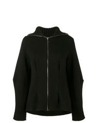 schwarzer Pullover mit einem Reißverschluß von Alexander McQueen