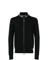 schwarzer Pullover mit einem Reißverschluß von DSQUARED2