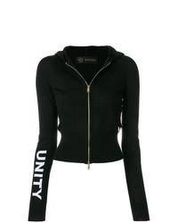 schwarzer Pullover mit einem Reißverschluß von Versace