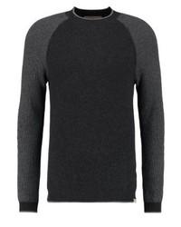 schwarzer Pullover mit einem Rundhalsausschnitt von Hollister Co.