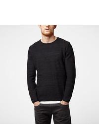 schwarzer Pullover mit einem Rundhalsausschnitt von O'Neill