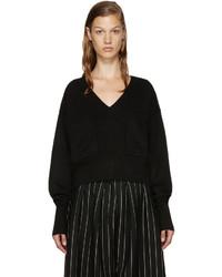 schwarzer Pullover mit einem V-Ausschnitt von Chloé