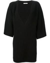 Schwarzer Pullover mit V-Ausschnitt von Chloé
