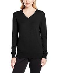 Schwarzer Pullover mit V-Ausschnitt von Havren
