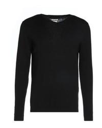 schwarzer Pullover mit einem V-Ausschnitt von Jack & Jones