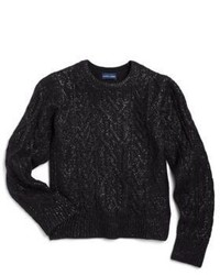 schwarzer Pullover