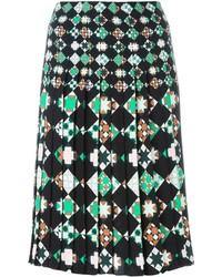 schwarzer Rock mit geometrischem Muster von Emilio Pucci