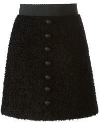 schwarzer Rock mit Knöpfen von Dolce & Gabbana