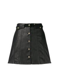 schwarzer Rock mit Knöpfen von Versace Jeans