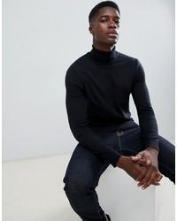 schwarzer Rollkragenpullover von Burton Menswear