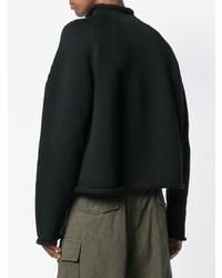 schwarzer Rollkragenpullover von Yohji Yamamoto