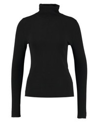 schwarzer Rollkragenpullover von Comma