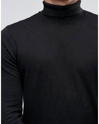 schwarzer Rollkragenpullover von Asos