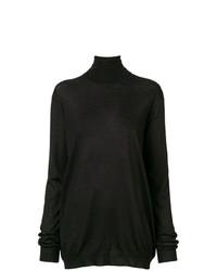 schwarzer Rollkragenpullover von Prada