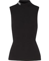 schwarzer Rollkragenpullover von Versace