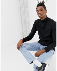 schwarzer Rollkragenpullover von Weekday