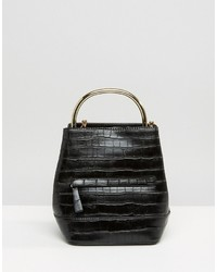 schwarzer Rucksack von Mango