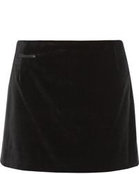 schwarzer Samt Minirock von Marc Jacobs