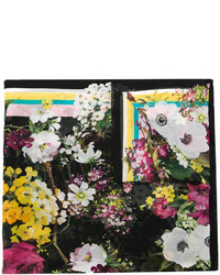 schwarzer Schal mit Blumenmuster von Dolce & Gabbana
