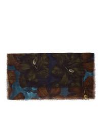 schwarzer Schal mit Blumenmuster von Dries Van Noten