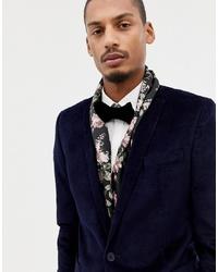 schwarzer Schal mit Blumenmuster von Twisted Tailor