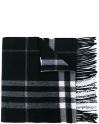 schwarzer Schal mit Karomuster von Burberry