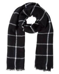 schwarzer Schal mit Karomuster von KIOMI