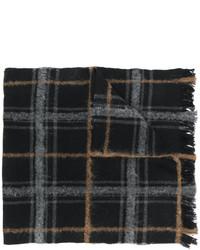 schwarzer Schal mit Schottenmuster von Dondup