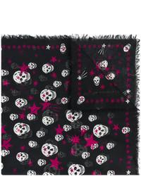 schwarzer Schal mit Sternenmuster von Alexander McQueen
