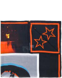 schwarzer Schal mit Sternenmuster von Givenchy