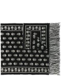 schwarzer Schal von Alexander McQueen
