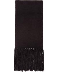 schwarzer Schal von AMI Alexandre Mattiussi