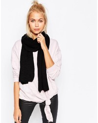 Schwarzer Schal von Cheap Monday