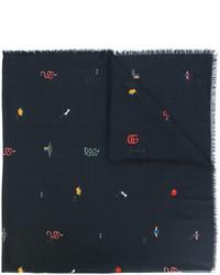 schwarzer Schal von Gucci