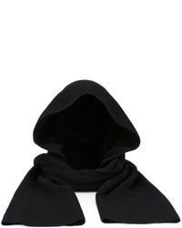 schwarzer Schal von Helmut Lang