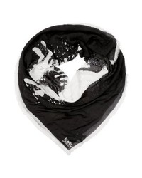 schwarzer Schal von Karl Lagerfeld