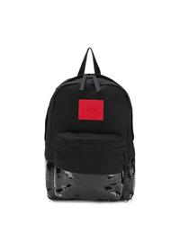 schwarzer Segeltuch Rucksack von 424