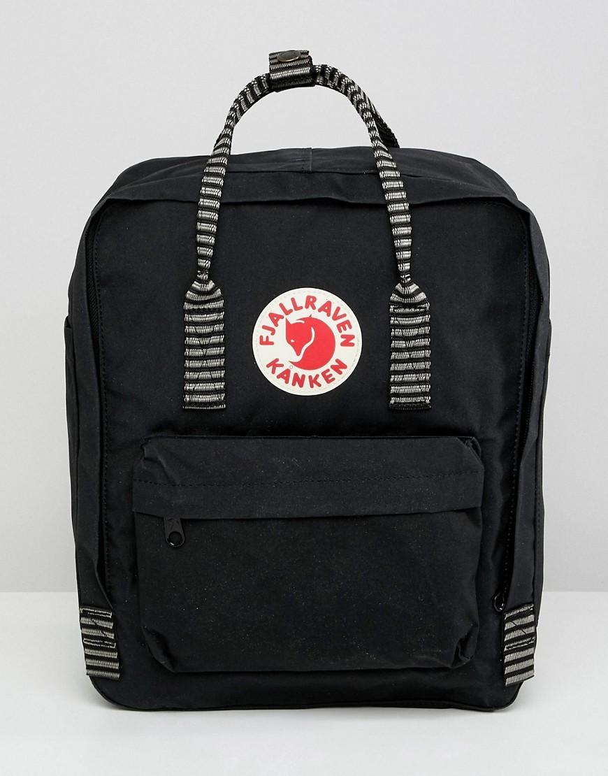 schwarzer Segeltuch Rucksack von Fjallraven