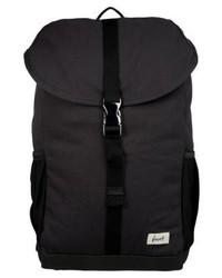 schwarzer Segeltuch Rucksack von Forvert