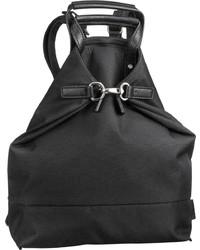 schwarzer Segeltuch Rucksack von Jost