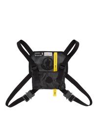 schwarzer Segeltuch Rucksack von Moncler Genius