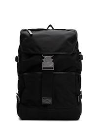 schwarzer Segeltuch Rucksack von Moncler