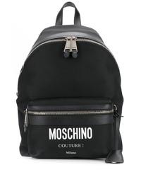 schwarzer Segeltuch Rucksack von Moschino