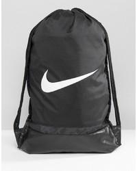 schwarzer Segeltuch Rucksack von Nike