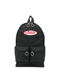 schwarzer Segeltuch Rucksack von Off-White
