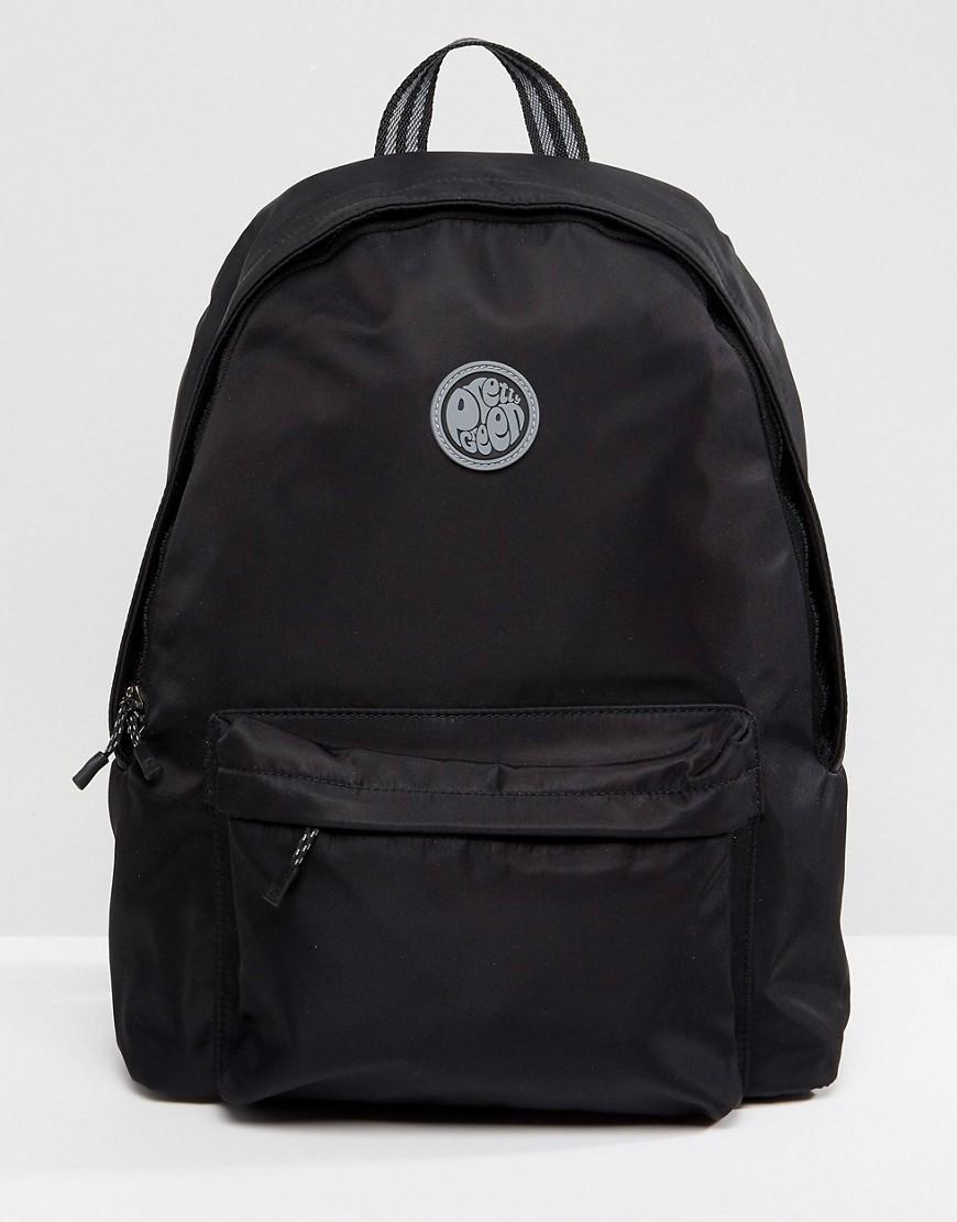 schwarzer Segeltuch Rucksack von Pretty Green
