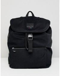 schwarzer Segeltuch Rucksack von PS Paul Smith