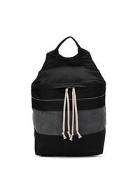 schwarzer Segeltuch Rucksack von Rick Owens DRKSHDW