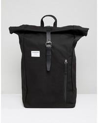 schwarzer Segeltuch Rucksack von SANDQVIST