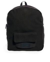 schwarzer Segeltuch Rucksack von Selected